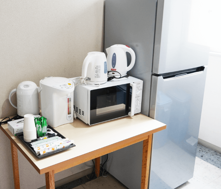 冷蔵庫・喫茶スペース(共用)